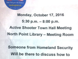 Local meeting flyer